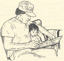 father reading