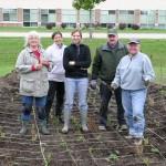 Dane County Master Gardeners building a rain garden